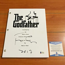 FRANCIS FORD COPPOLA SIGNED THE GODFATHER 176 PAGE MOVIE SCRIPT BECKETT BAS COA