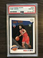 2019-20 Panini NBA Hoops Coby White Tribute Rookie PSA 10 Chicago Bulls RC