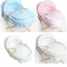 NEW Broderie Anglaise Spare Replacement Moses Basket Dressing Covers Bedding