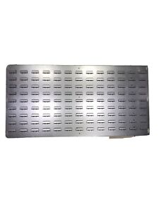Galvanised Steel Wall Louvre Panel For Parts Storage  Lin Bins  1000 X 500 2 Off