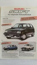 Suzuki Swift, Prospekt-Blatt, 03/1986