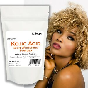 100%Pure KOJIC ACID POWDER Skin Lightening whitening DIY Cream Lotion Soap Serum