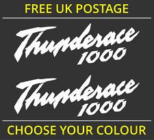 2x Yamaha Thunderace 1000 logotipo calcomanía de pegatinas de vinilo de Supersport Yzf 1000r
