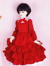 SD doll 1/3 BJD Super Dollfie outfit red lady Lolita dress clothes 2 pc