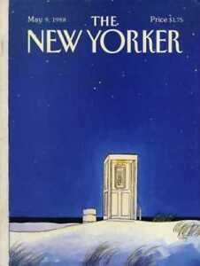 New Yorker COVER 05/09/1988  Remote Phone Box  GETZ