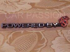 écrit écusson POWERED BY ABARTH FIAT 500 tableau de bord argent logo rouge