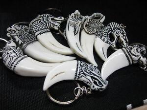 12 pcs wholesale lots white totem charm gorgeous keychain new ring