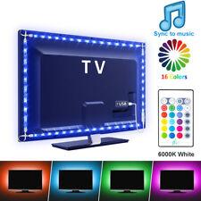 LED TV Backlight Hintergrund-Beleuchtung USB Lichtstripe Streifen Musik 2M RGBW