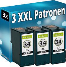 Set 3x TINTE PATRONEN für LEXMARK 34XL 18C0034 P6250 P910 P915 P4310 P4330 P4350