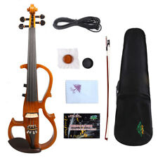 Yinfente 4/4 Electric Silent Violin Wooden Sweet tone Free Case+Bow #EV8