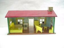 MARX Happy Time Cottage House with Furniture & Trees for O Scale Train Layout