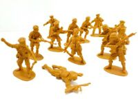 British Military Army Soldier Men Toy Lot of 12 / Dark Yellow Gold