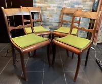2 Set Biedermeier Stühle Aus Massiven Nussbaum,um 1870-1900