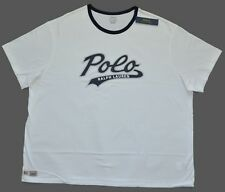 New 3XB 3XL BIG 3X Polo Ralph Lauren Mens crew neck ringer tee t-shirt white top