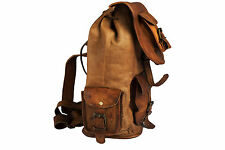 Vintage Men's Leather Backpack Bags Shoulder Briefcase Rucksack Bag
