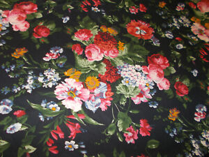 Rare Ralph Lauren Cossette Isadora Black Floral King Duvet Cover French Country