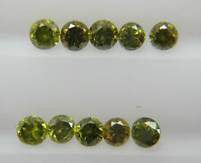 1-1.1mm 0.06cts 10pc Natural Loose Brilliant Cut Diamond SI Clarity Fancy Green