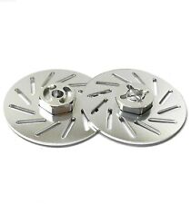 57822LS 1/10 RC M12 12mm Alloy Wheel Adaptors With Brake Disc Silver 38mm x 2