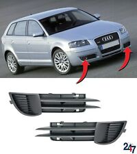 NEW AUDI A3 8P 2003 - 2008 FRONT BUMPER LOWER FOG LIGHT GRILL COVERS PAIR SET