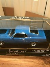 Motor Max American Classics 1970 Ford Mustang Boss 429 1/24 New in Box  Blue