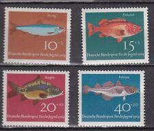 lot timbres Allemagne RFA poissons série complète 1964 Neufs