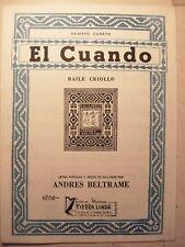 seltene Noten Gitarre el cuando baile criollo andres beltrame tierra linda no 4