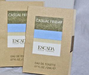 2x Escada Casual Friday EDT Vials