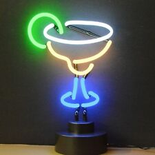 Margarita drink neon restaurant sign bar lamp sculpture display Man Woman Cave