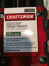 Craftsman 1/2 in Drive Digi Click Digital Torque Wrench 25-250 ft lbs tool New!