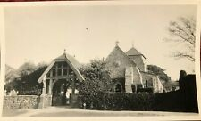 Vintage Old Photograph Rottingdean Church Near Brighton East Sussex October 1934