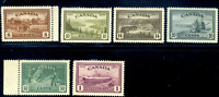 Canada #268-273 mint VF OG NH/H/LH 1946 King George VI Peace Issue Set CV$90.00