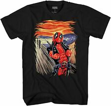 Marvel Deadpool Scream Adult Tee Graphic T-Shirt for Men Tshirt