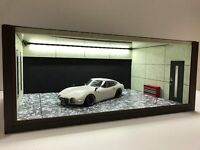 1/18 1:18 SCALE DIORAMA GARAGE DISPLAY ACRYLIC CASE W/ LED LIGHT MADE IN JAPAN ②