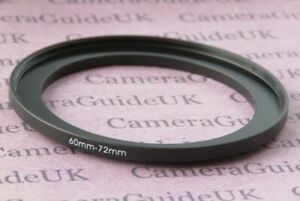 60mm auf 72mm Stecker-Buchse Stepping Step Up Filter Ring Adapter 60mm-72mm