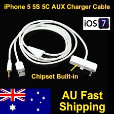 3.5mm Car Audio AUX Auxiliary USB Charger Cable Adapter for iPhone 5 5S 5C