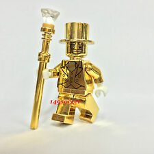 LEGO *CUSTOM* MR GOLD COLLECTIBLE MINIFIGURE SERIES 10 MACHINE PRINT