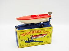 "Lot 33337 | MATCHBOX 48 B SPORTSBOAT and Caravane Bateau modèle comme neuf ""D"" - Box"