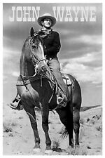 JOHN WAYNE ~ RIDING A HORSE 24x36 POSTER Western Movie Icon Cowboy