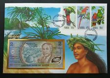 Samoa Parrots 1993 Birds Pets Island Lady Beach FDC (banknote cover) *rare