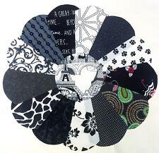 26 Dresden Plate Shape PATCHWORK CHARM Packs Bundle 100% COTTON Quilting Fabric