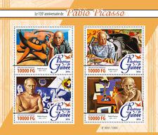 Guinea 2016 estampillada sin montar o nunca montada Pablo Picasso 4v m/s corrida de toros corrida Arte pinturas sellos