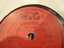 Stan Stafford W&G 78RPM Record Frankie and Johnny - Extremely Rare W&G 78RPM