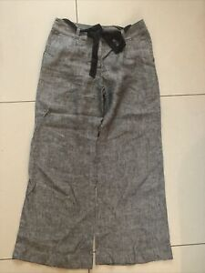 Laura Ashley Womens Grey Trousers Size 10