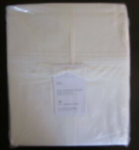 Pottery Barn Sateen Sheet Set, Full Size, 700 Thread Count, White, New Free Ship
