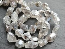 """DIAMOND QUARTZ NATURAL FREEFORM BEADS, approx 9x12mm but variable, 16"""", 30 beads"""