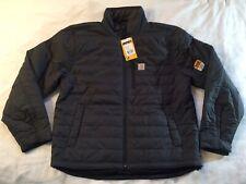NWT Men's Carhartt Gilliam Rain Defender Jacket Coat Adult Large Dark Gray New
