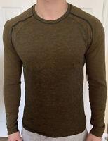 Lululemon Mens Size M Metal Vent Tech LS 2.0 Gold FSGD/TRNV Long Sleeve No Stink