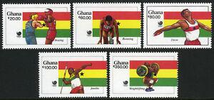 Ghana 1058-1062, 1063 S/S, MNH Été Olympiques, Séoul, 1988