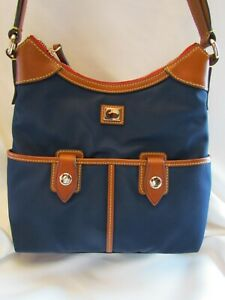 Dooney & Bourke Camden Collection Nylon Small Zip Hobo NAVY BLUE $139