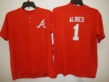 0217 Boys Youth Atlanta Braves OZZIE ALBIES Pullover Baseball JERSEY New RED